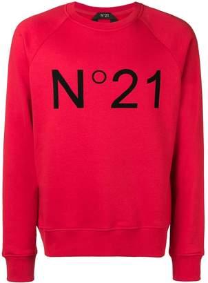 No.21 printed logo sweatshirt