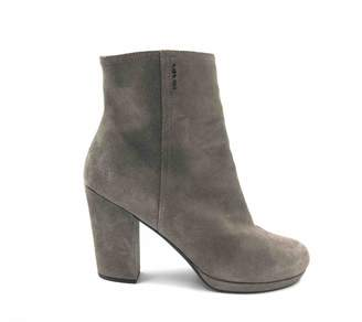 Prada Beige Suede Ankle boots