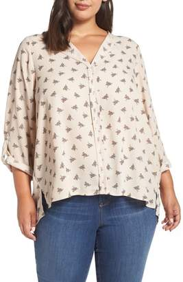 Bobeau Cristy Pleat Back Blouse