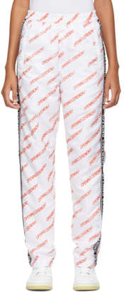 Opening Ceremony White All Over Logo Warm Up Lounge Pants