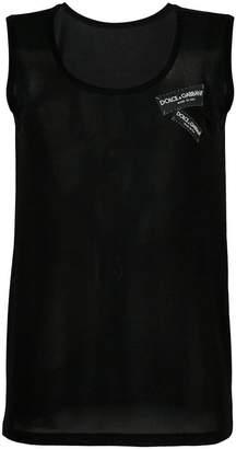 Dolce & Gabbana logo tag tank top
