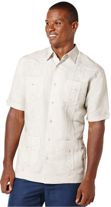Cubavera Short-Sleeve Embroidered Guayabera Shirt