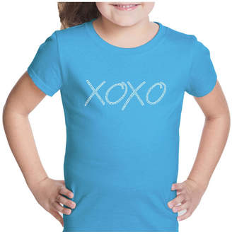 XOXO La Pop Art Girl Word Art T-Shirt