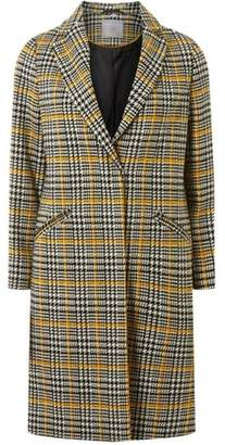 Dorothy Perkins Womens Petite Ochre Checked Coat