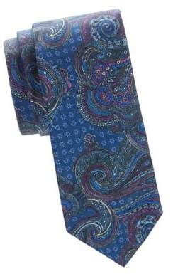 Saks Fifth Avenue Paisley Silk Tie