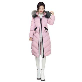 1d410c9d8ce PENATE Women s Down Jackets Girl Winter Warm Long Plush Hooded Cotton  Padded Coat