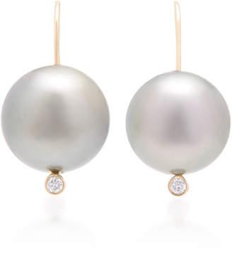 Mizuki Limited Edition Black Tahitian Pearl Drop Earrings