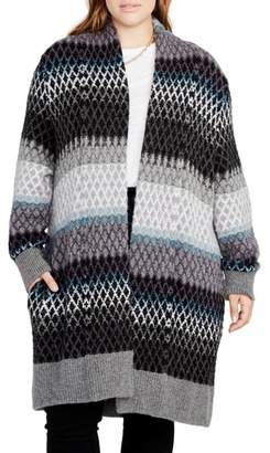 Rachel Roy Ombre Diamond Sweater Coat