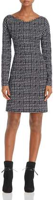 Theory Checked V-Neck Sheath Dress - 100% Exclusive