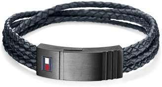 Tommy Hilfiger Braided Leather Bracelet