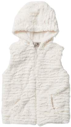 WIDGEON Faux Fur Hooded Vest (Big Girls)