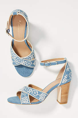 c760fbbc240b Anthropologie Criss-Cross Heeled Sandals