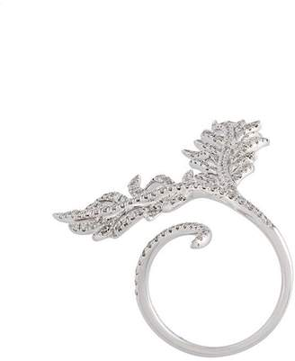 Elise Dray diamond leaf ring