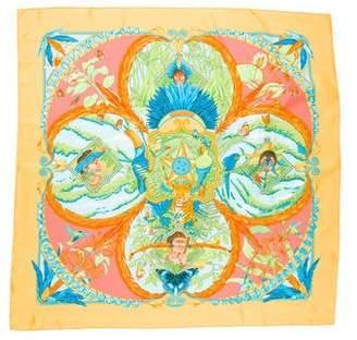 Hermes Amazonia Silk Scarf