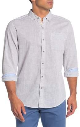 Natural Blue Stripe Long Sleeve Camp Shirt