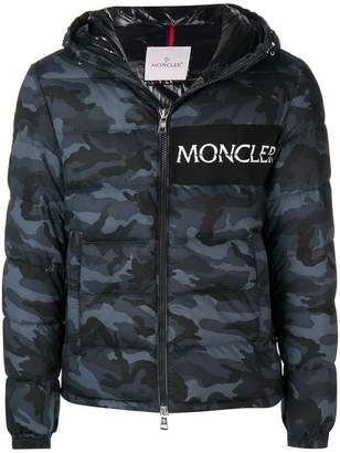 Moncler camouflage print puffer jacket