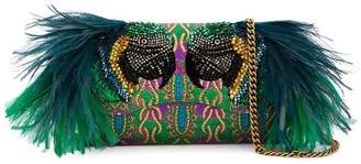 Gucci Small Broadway Evening Bag with Feather Embellishment