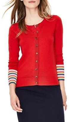 Boden Cassandra Stripe Detail Cotton & Wool Cardigan