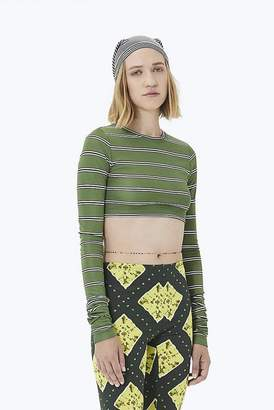 c7f61e2c Marc Jacobs Striped Long-Sleeve Crop Top