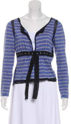 Philosophy di Alberta Ferretti Striped Long Sleeve Blouse