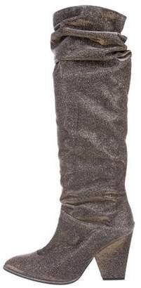 Stuart Weitzman Smashing Sparkle Knee-High Boots