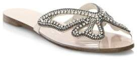 Sophia Webster Madame Butterfly Crystal Suede Slides