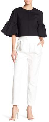 Tibi Agathe High Waist Pleated Trousers