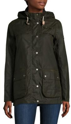 Barbour Headland Waxed Jacket $429 thestylecure.com