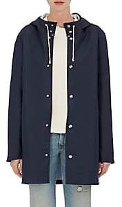 Stutterheim Raincoats Women's Stockholm Coated-Tech-Fabric Raincoat - Navy