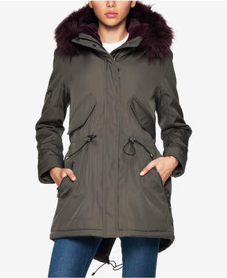 S13 Faux-Fur-Lined Hooded Parka