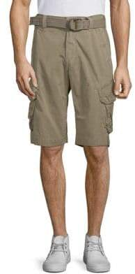 Jet Lag Belted Camo Cargo Shorts