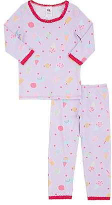 Esme Kid's Hearts-Print Cotton-Blend Pajama Set