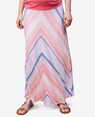 Motherhood Maternity Striped Maxi Skirt