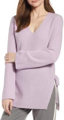 Halogen Side Tie Cashmere Sweater