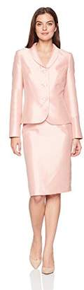 Le Suit Women's Shiny 3 Bttn Shawl Collar Skirt