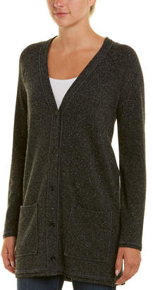 Three Dots Donegal Wool & Silk-Blend Cardigan