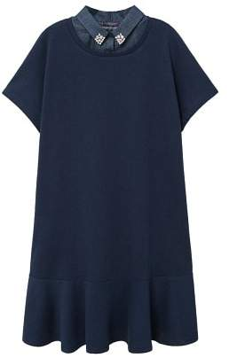 Violeta BY MANGO Appliqu?? collar dress