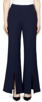 Roland Mouret Danesfield Flared Crepe Trousers
