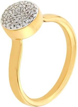 Monica Vinader Fiji Button Diamond Ring