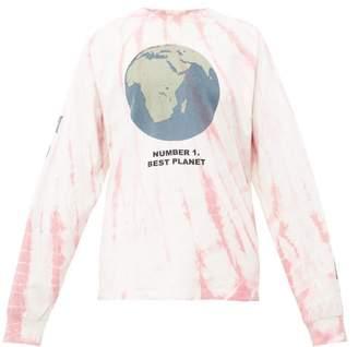 story. Mfg - Grateful Tie Dye Cotton Sweatshirt - Womens - Pink White