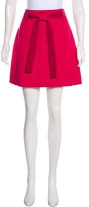 RED Valentino Mini Jacquard Skirt