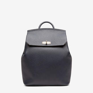 Bally Bahira Blue, Women's grained calf leather backpack in ink
