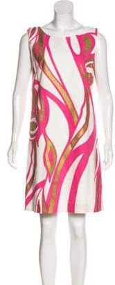 Versace Printed Sleeveless Mini Dress w/ Tags