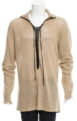 Dolce & Gabbana Longline Woven Sweater