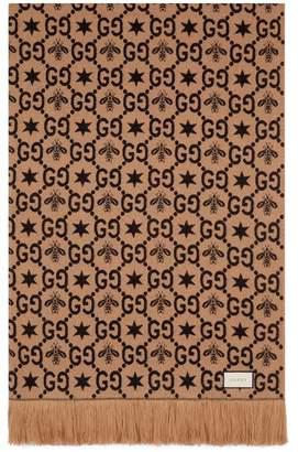 Gucci GG pattern throw blanket