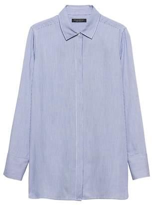 Banana Republic Petite Parker Tunic-Fit Soft Stripe Shirt