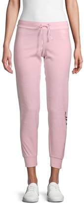 Juicy Couture Metallic Logo Velour Jogging Pants
