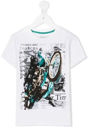 John Galliano motorcycle print T-shirt