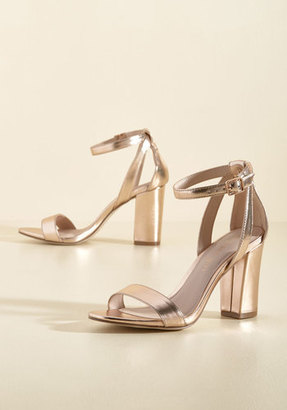 A Gleaming Good Time Metallic Heel in 8.5