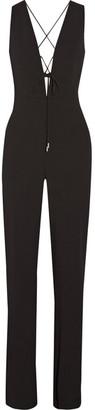 Cushnie et Ochs - Claudia Lace-up Crinkled Stretch-crepe Jumpsuit - Black $1,695 thestylecure.com